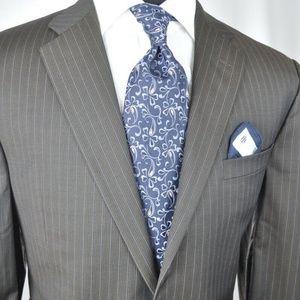 Burberry London Suit 44 XL / L + Zegna Tie